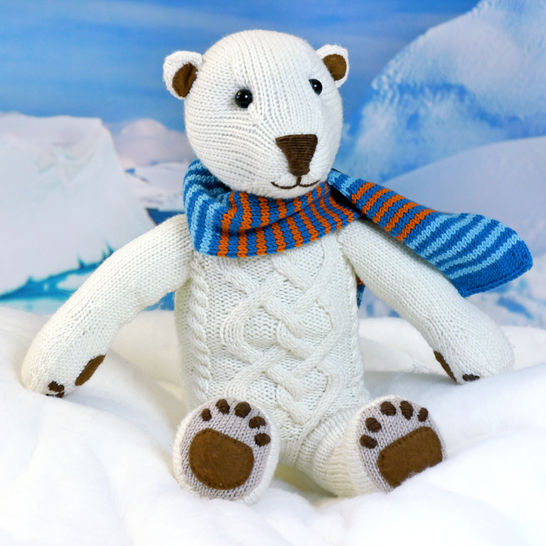 Download POLAR BEAR ILUQ, soft toy knitting pattern - Knitting Patterns immediately at Makerist