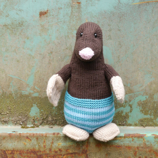 Max The Mole Soft Toy Knitting Pattern