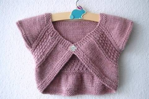 Download Entrechat shrug for baby and girls - knitting pattern immediately at Makerist