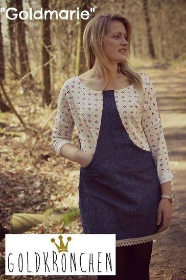 Goldmarie Ebook, Kleid, Hoodie, Shirt Gr.32-50 - Nähanleitungen bei Makerist sofort runterladen