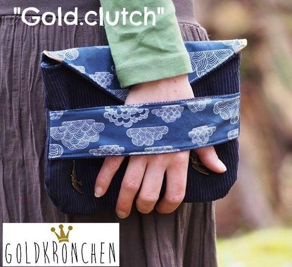 Gold.clutch Ebook, Handtasche, Tasche, Clutch - Nähanleitungen bei Makerist sofort runterladen