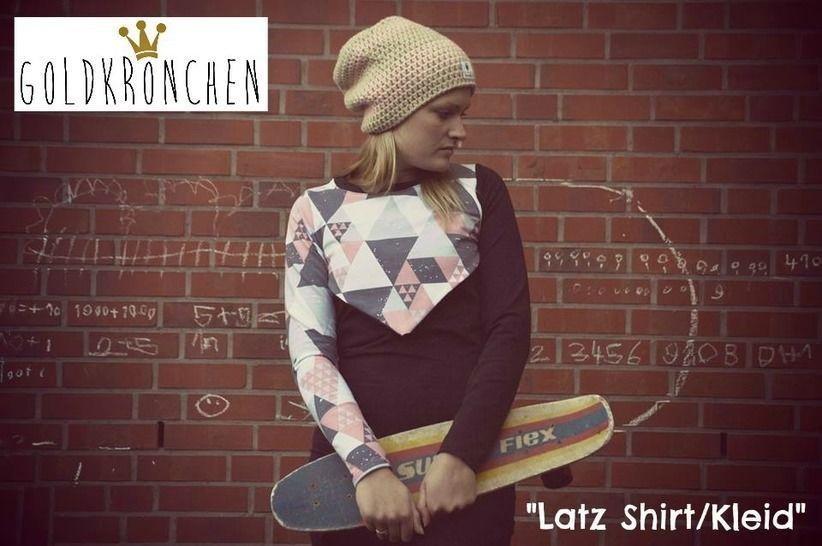 Latz Shirt/ Kleid Ebook Gr.36-42 - Nähanleitungen bei Makerist sofort runterladen