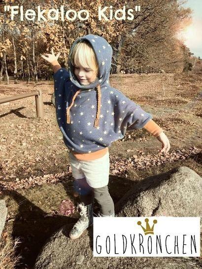 Flekaloo Ebook, Fledermaus Shirt mit Kapuzenloop - Nähanleitungen bei Makerist sofort runterladen