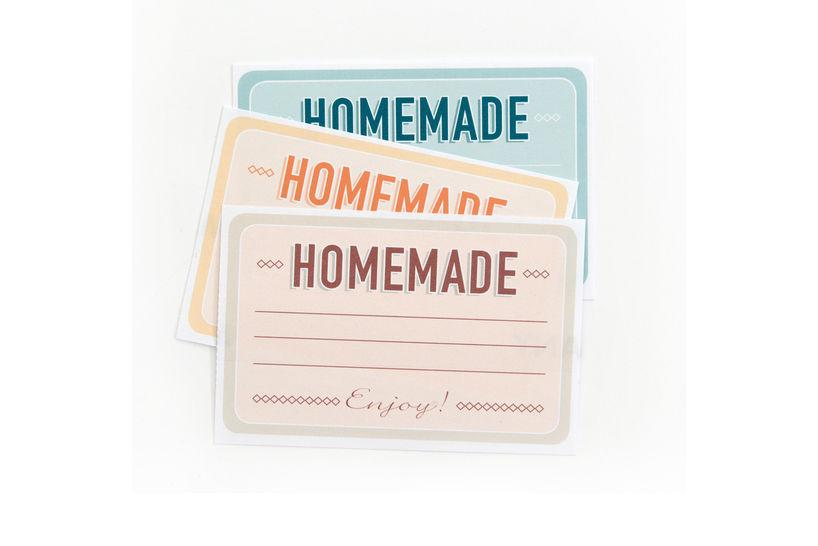 """Etiketten zum Selber-Ausdrucken """"Home Made"""" - Bastelanleitungen bei Makerist sofort runterladen"""