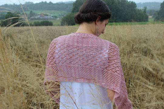 Download Shawl Honey Blooms - Knitting - Knitting Patterns immediately at Makerist