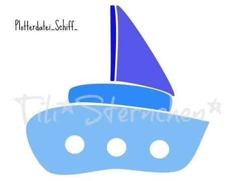 Plotterdatei > Schiff < Plottermotiv bei Makerist sofort runterladen