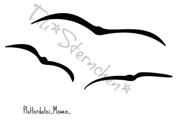 Plotterdatei > fliegende Möwen < Plottermotiv - Plotterdateien bei Makerist sofort runterladen