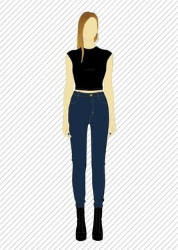 Download TR803 Skinny jeans - PDF sewing pattern - Sewing Patterns immediately at Makerist