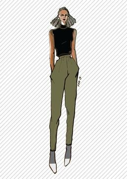 Download TR811 Jogger pants in jersey - PDF sewing pattern - Sewing Patterns immediately at Makerist