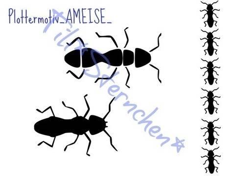 Plotterdatei > Ameisen < Plottermotiv bei Makerist sofort runterladen
