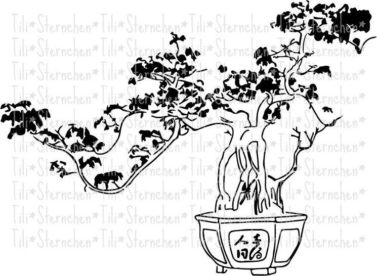 Plotterdatei > Bonsai < Plottermotiv - Plotterdateien bei Makerist sofort runterladen