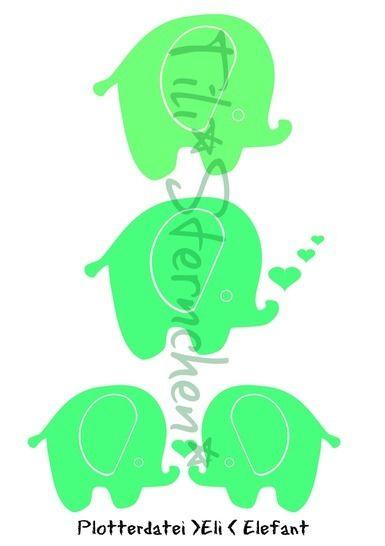 Plotterdatei > Eli Elefant < Plottermotiv - Plotterdateien bei Makerist sofort runterladen