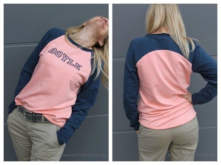 Download Womens`raglan shirt with back yoke. Sizes 34-54 - Sewing Patterns immediately at Makerist