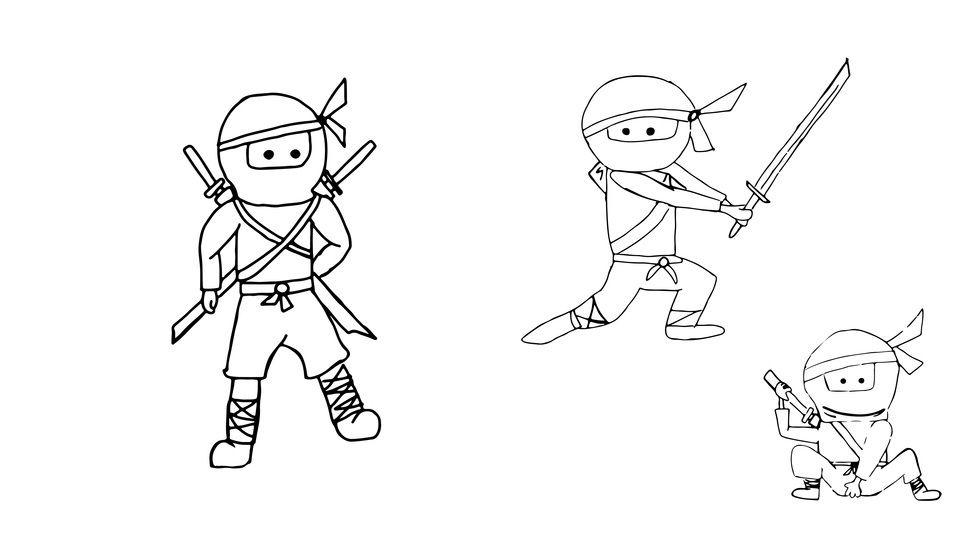 Plotterdatei > Ninja_drei < Plottermotiv - Plotterdateien bei Makerist sofort runterladen