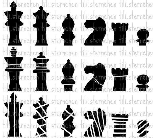 Plotterdatei > Schachfiguren < Plottermotiv - Plotterdateien bei Makerist sofort runterladen