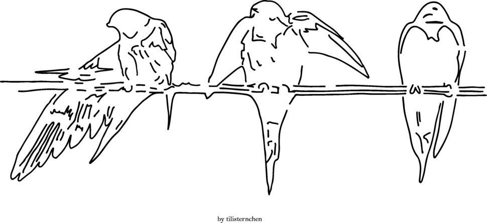 Plotterdatei > Schwalben auf Ast < Plottermotiv - Plotterdateien bei Makerist sofort runterladen