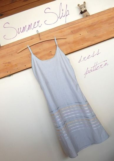 Download Summer Slip Dress - Simple Digital Sewing Pattern - Sewing Patterns immediately at Makerist