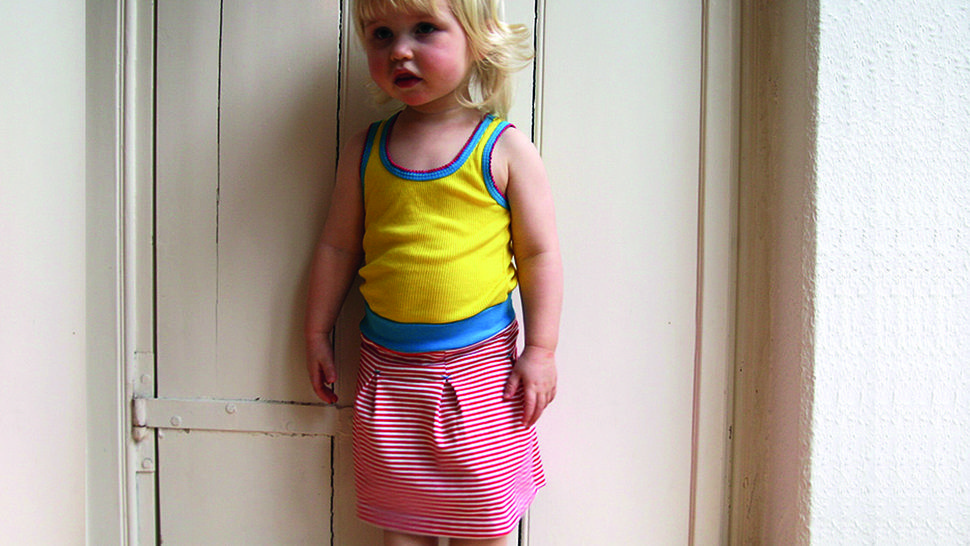 Download Antje - girls jerseyskirt with box pleats - Sewing Patterns immediately at Makerist