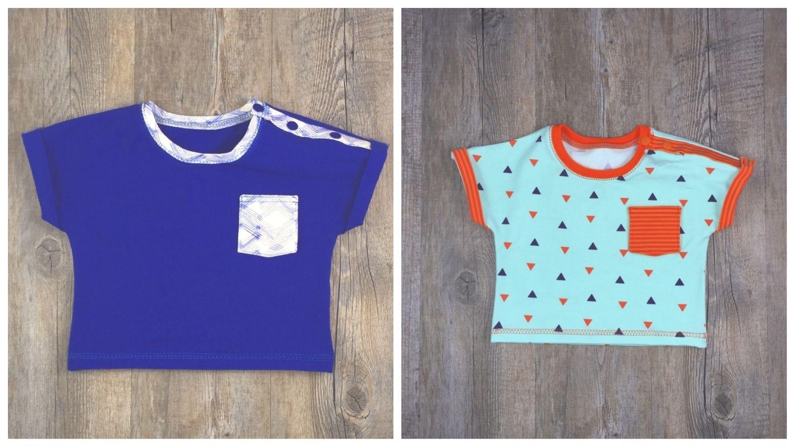 Baby T-Shirt T#1 Nähanleitung und Schnittmuster Gr. 56-92