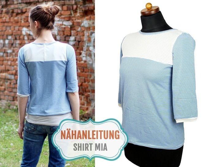 Shirt MIA nähen | 34–42 Nähanleitung & Schnittmuster - Nähanleitungen bei Makerist sofort runterladen