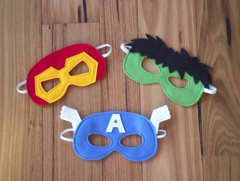 Download Superhero Masks - Iron Man, Hulk and Captain America Costumes immediately at Makerist
