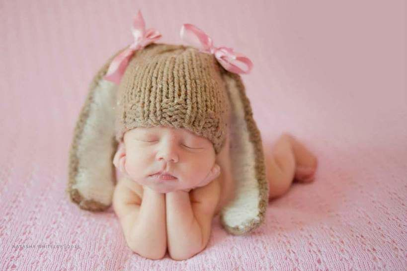 Download Baby Bunny Beanie - Knitting Patterns immediately at Makerist