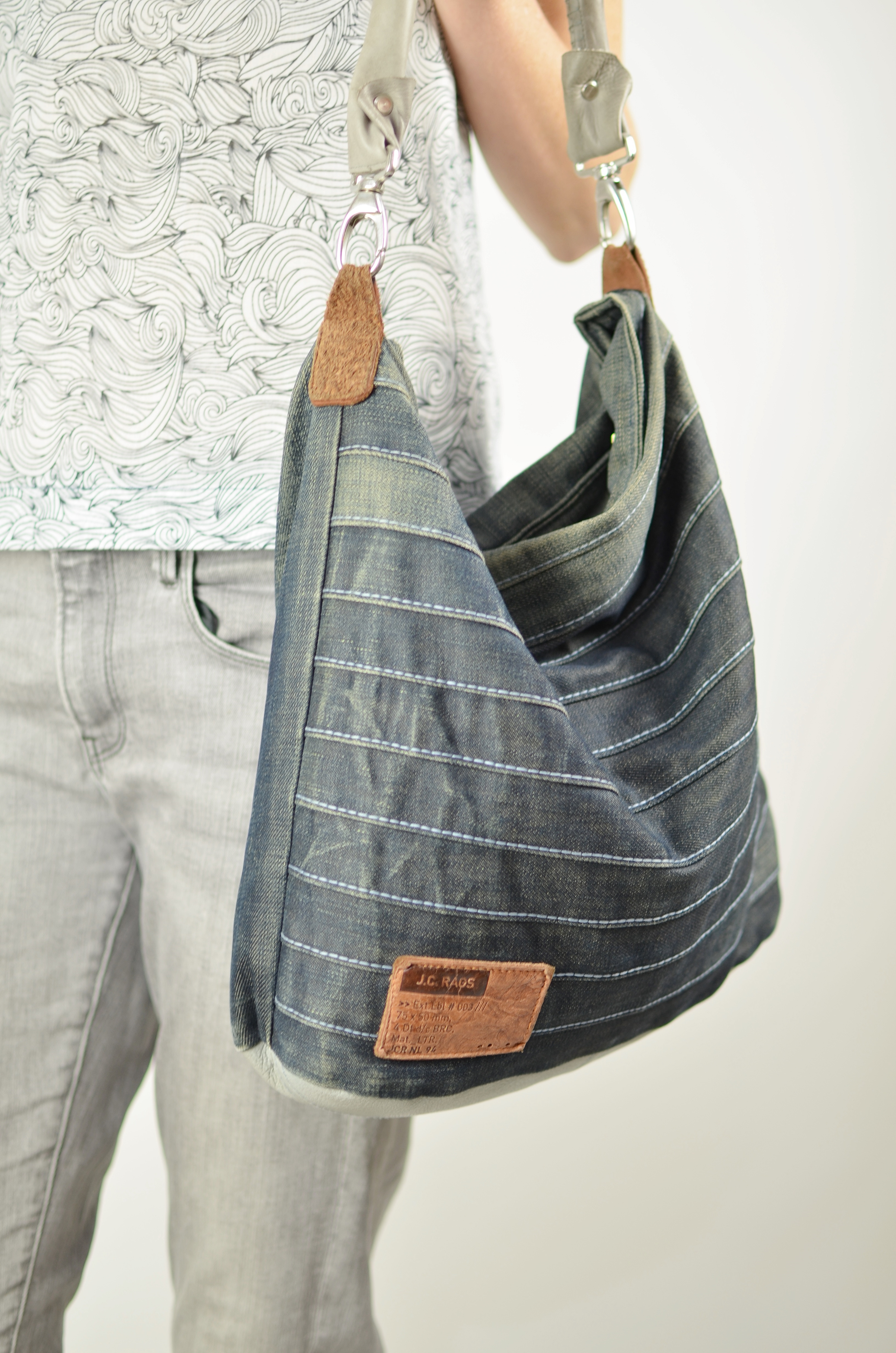 Jeans Upcycling Tasche \
