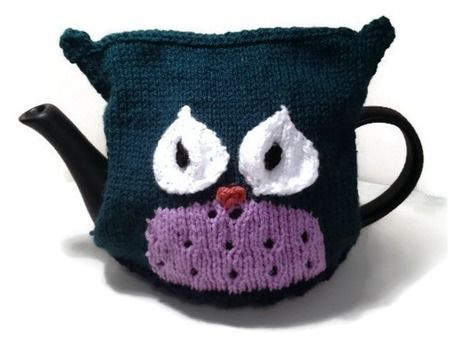 Download Owl Tea Cozy - Knitting Patterns immediately at Makerist
