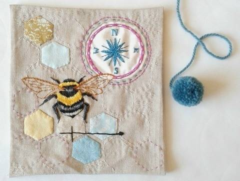 Download Bee Embroidery Pattern immediately at Makerist