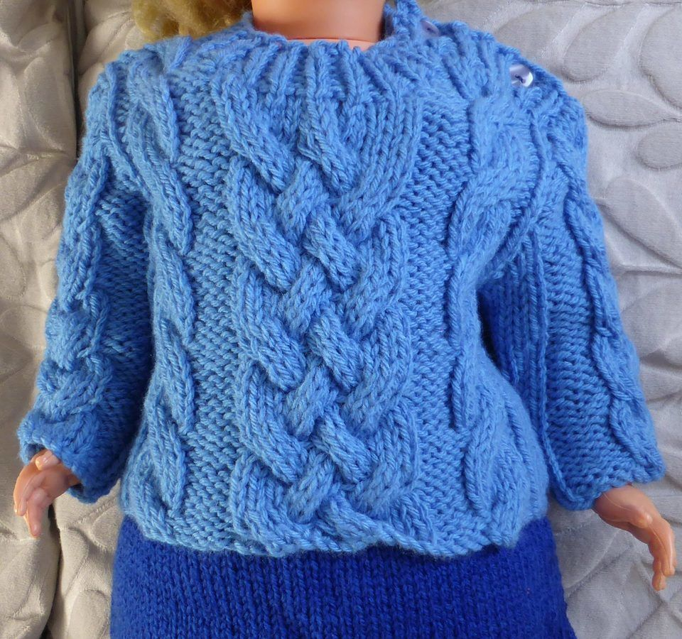 Babies 12ply cable sweater - PDF knitting pattern - Jesse