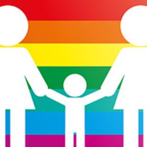 Large regenbogenfamilie grafik adoption homosexuelle
