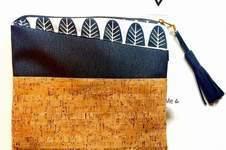 Makerist - elegante Freizeit Fold Clutch mit Kork - 1