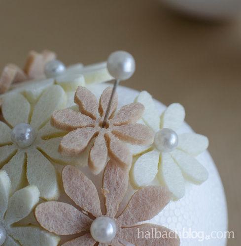 Makerist - Blütenkugeln mit Filzblumen - DIY-Projekte - 2