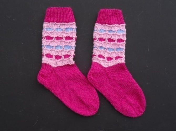 Makerist - farbenfrohe Socken mit Wabenmuster - Strickprojekte - 2