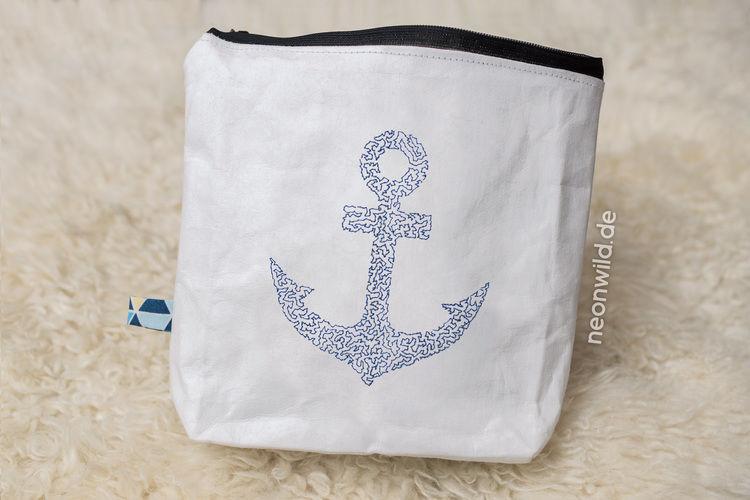 Makerist - SnapPap Tasche mit gesticktem Anker - Textilgestaltung - 1