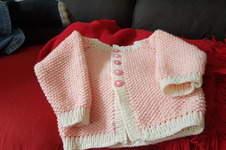 Makerist - Zartes rosa Babyjäckchen - 1