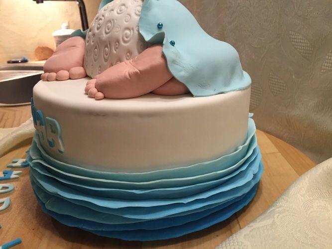 Makerist - babyshower cake für amar - Torten, Cake Pops und Cupcakes - 2