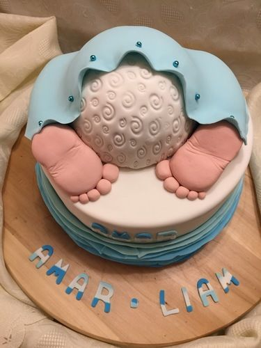 Makerist - babyshower cake für amar - Torten, Cake Pops und Cupcakes - 3