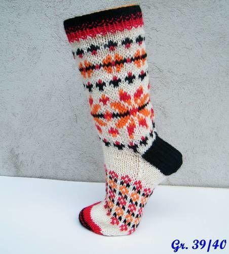Makerist - Socken mit Norwegerstern für Gr. 39/40 - Strickprojekte - 1