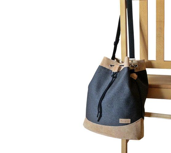 Makerist - Design Award Kork: Drawstring Bag mit Korkleder - Nähprojekte - 2