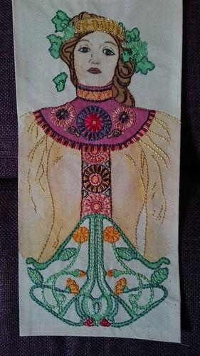 Makerist - Jugendstil! - Textilgestaltung - 1