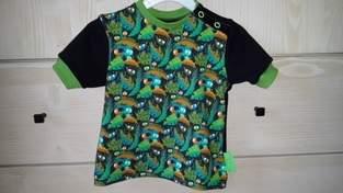 Makerist - erstes T-Shirt für mein Zwergchen aus meinem Lieblingsstoff.  - 1