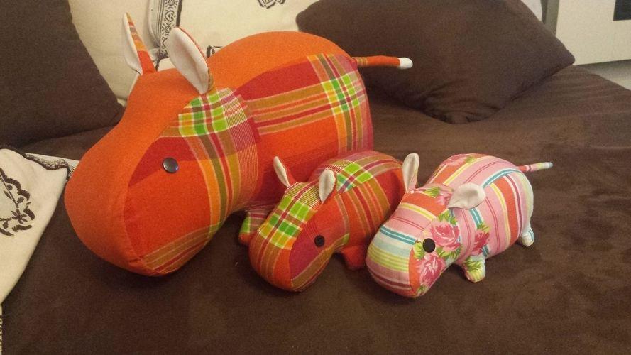 Makerist - La famille hippo  - Créations de couture - 1