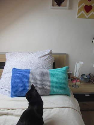 Makerist - Dreifarbiges Kissen - 1