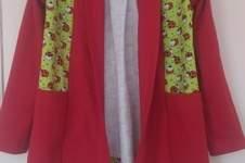 """Makerist - cardigan """"Open Sea"""" aus jersey für meine Enkelin - 1"""