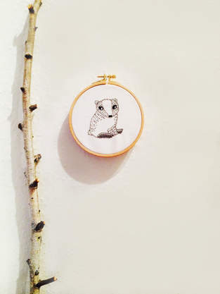 Makerist - embroidery // badger - 1