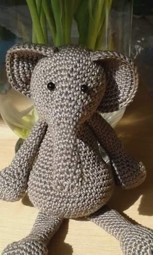 Makerist - Elefant.  Gehäkelt.  Glücksbringer für die Abschlussprüfung - 1