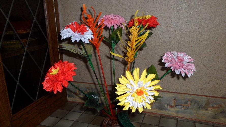 Makerist - Fleurs en Origami - Autres créations - 1