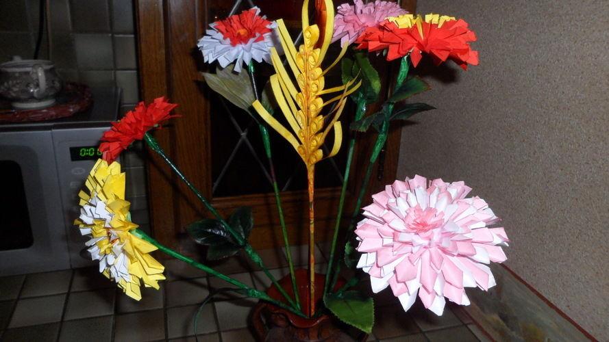 Makerist - Fleurs en Origami - Autres créations - 2