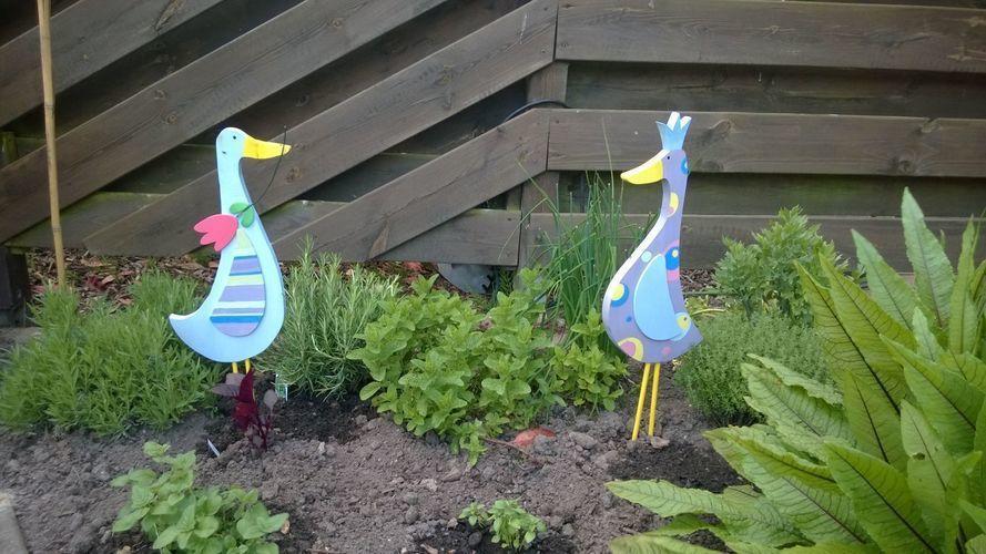 Makerist - Gartenfiguren Enten aus Holz - DIY-Projekte - 1